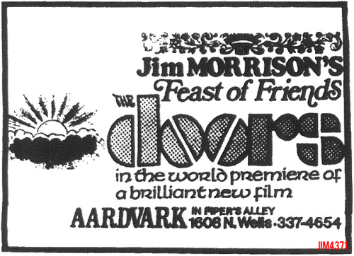 ad for screening of Feast Of Friends in Chicago's Old Town