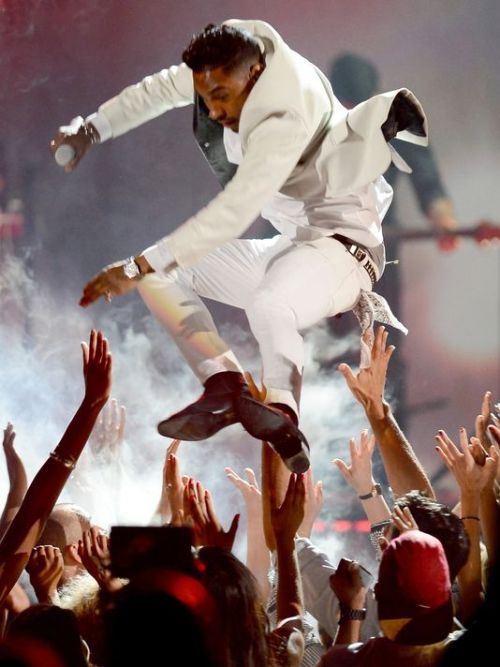 Miguel out here taking a leap of faith. That shit was more like a leap of fail. If he's not a guest host for WWE Raw, that jump / drop kick move was purely in vain and a lost opportunity.
