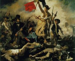 cavetocanvas:  Eugène Delacroix, Liberty Leading The People, 1830