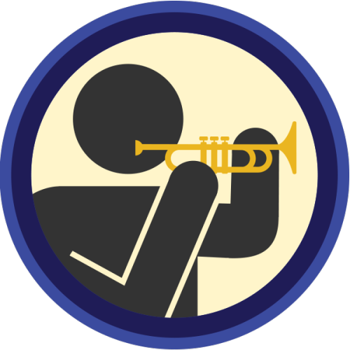 lifescouts:  Lifescouts: Trumpet Badge If you have this badge, reblog it and share your story! Look through the notes to read other people's stories. Click here to buy this badge physically (ships worldwide). Lifescouts is a badge-collecting community of people who share their real-world experiences.
