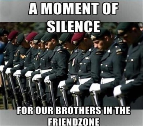 septemberstale:  For all the others who got friendzoned.. *salute*