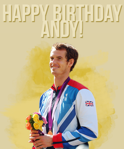 iloveandymurray:   Happy 26th Birthday Andy Murray!  ♥