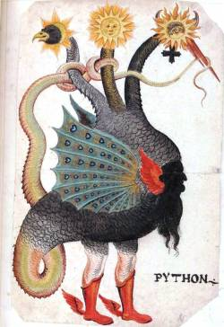Mercurius as a three headed Dragon (1600) - Germany, Unknown artist From Beinecke Rare Book and Manuscript Library [Yale University]