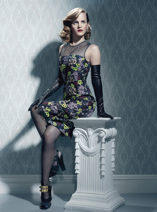 Emma Watson in a 40's inspired stylish setting for W Magazine.