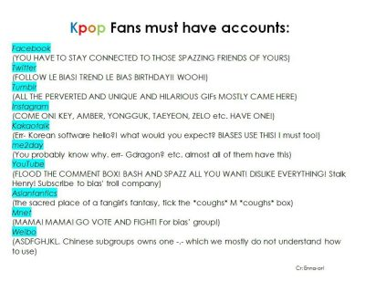 fangirls must-have accounts