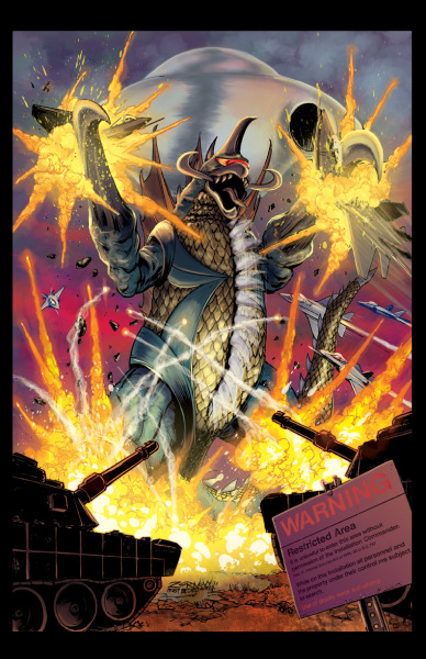 GODZILLA : RULERS OF EARTH issue #2 cover by ~Zornow