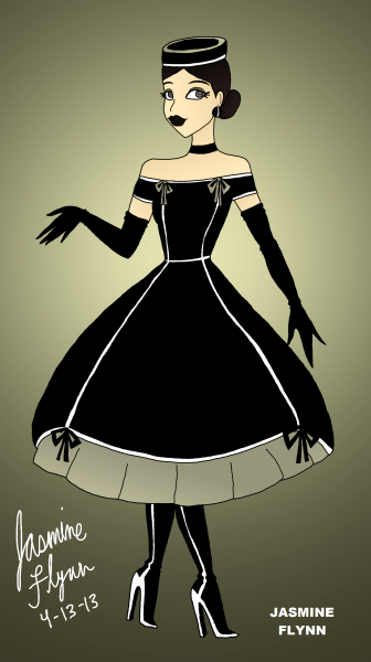 Black Bow Dress. a digital drawing by me, Jasmine Flynn :)