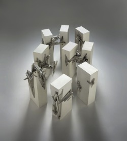 """Nine Reconstructed Boxes"", 1999  By: LEBBEUS WOODS…."