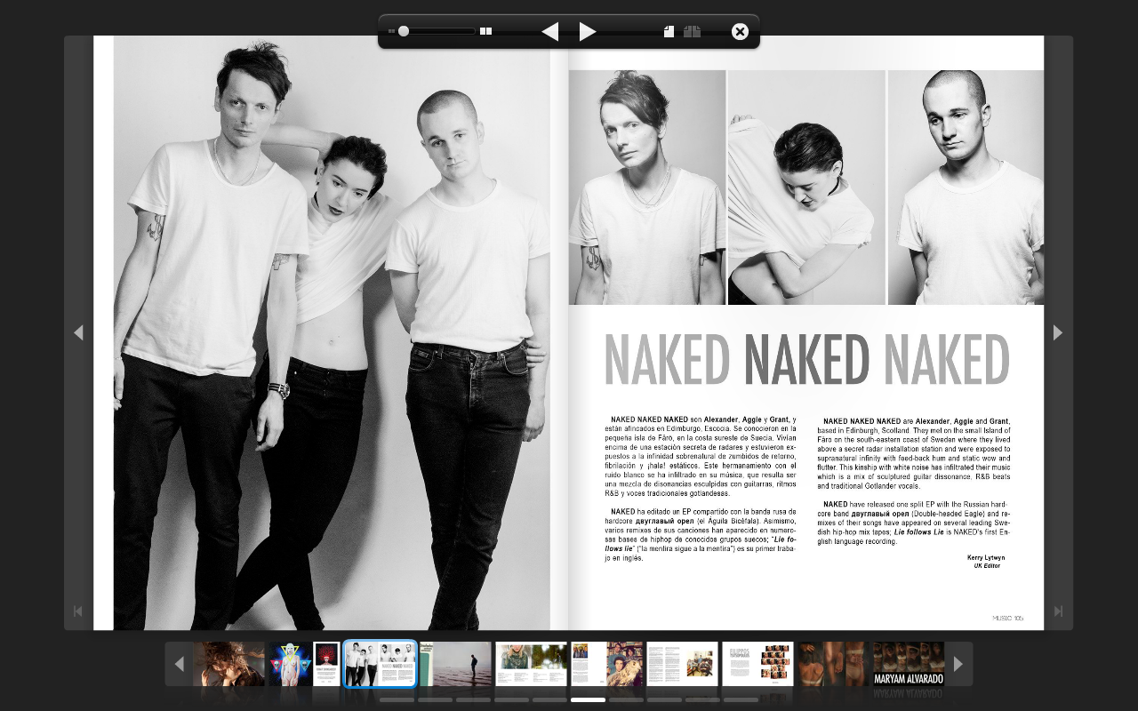 Naked in Singular Art Magazine