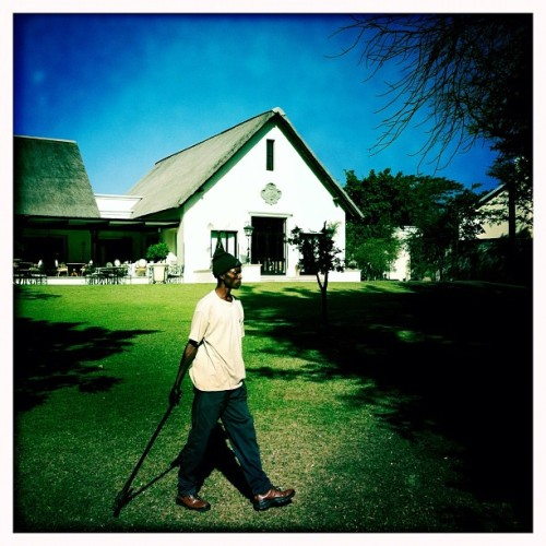 On the grounds of the Royal Livingstone Hotel. Livingstone, Zambia. May 2012. Photo by @austin_merrill. #zambia #livingstone #hotel #africa