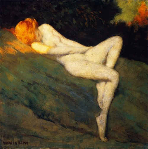 Sleeping Nude - Warren B. Davis 1915