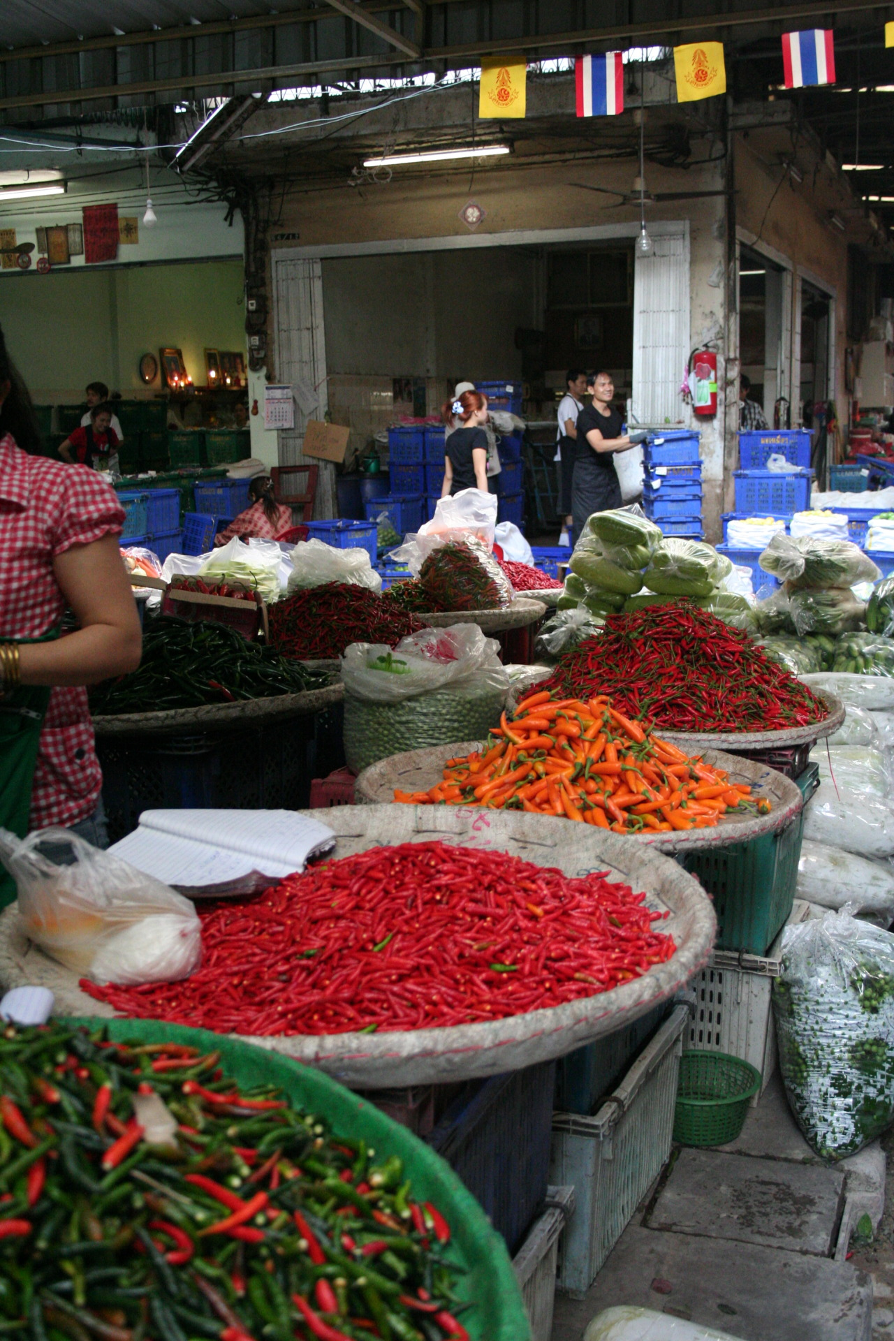 Peppers at the market in Thailand. I need this in my life again.