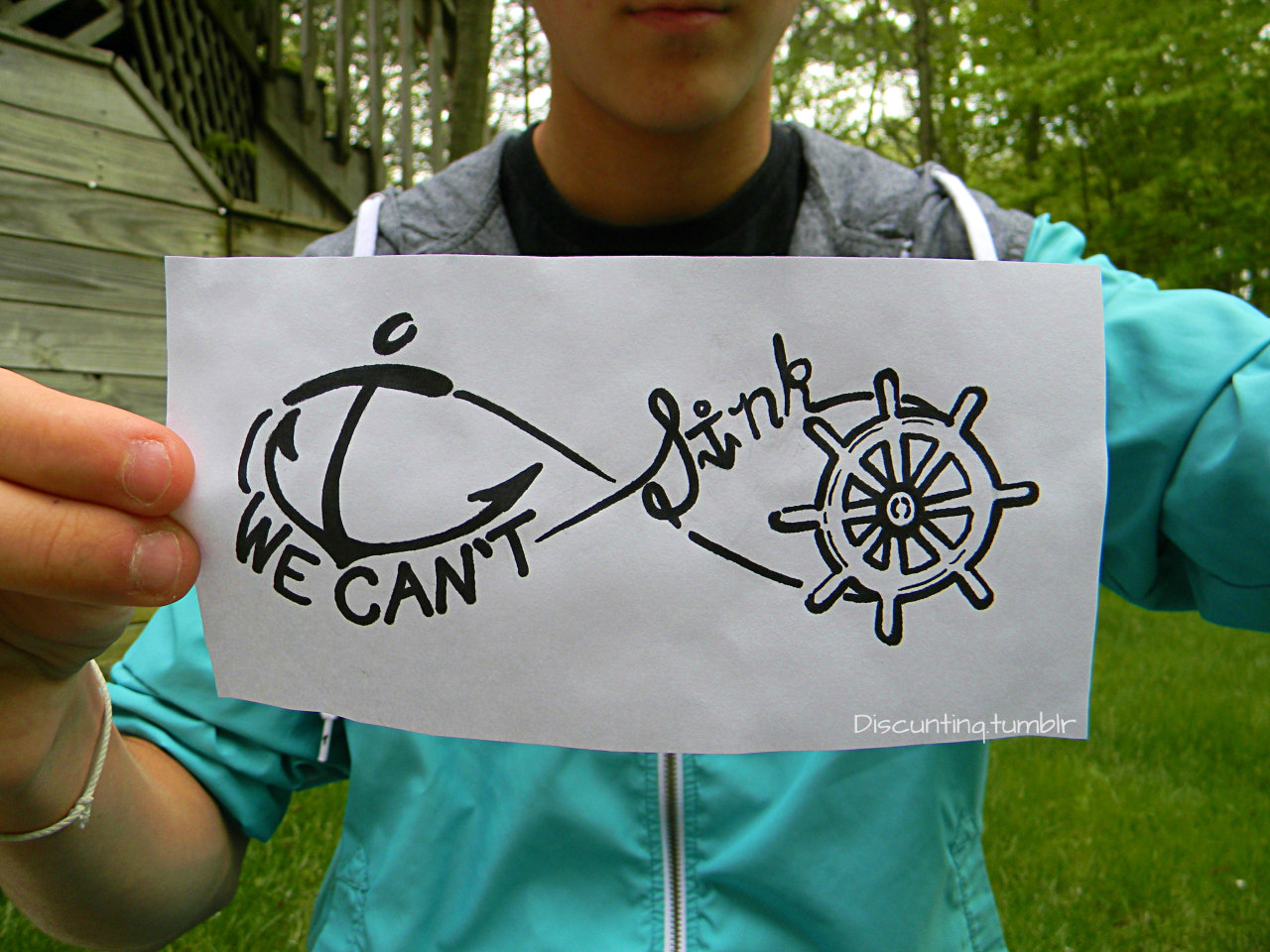 "discuntinq:  ""we can't sink"""
