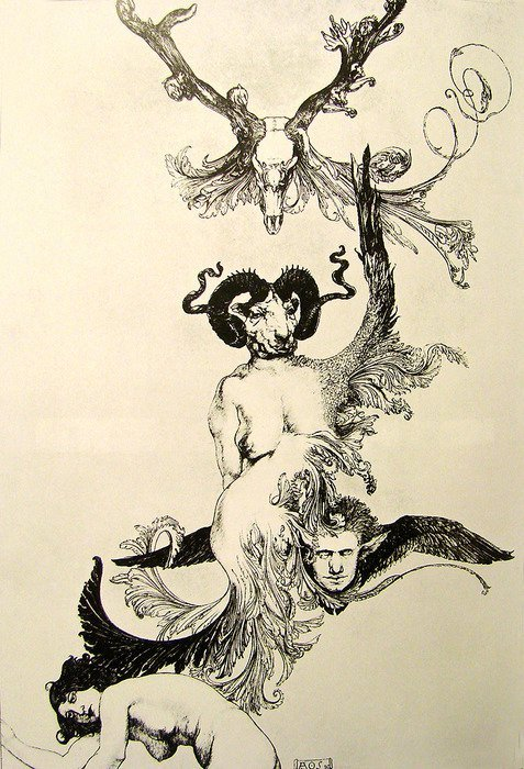 "consuelod:  Austin Osman Spare ""Ascension of the Ego from Ecstasy to Ecstasy""  The Book of Pleasure (Self-Love): Psychology of Ecstasy (1913)"