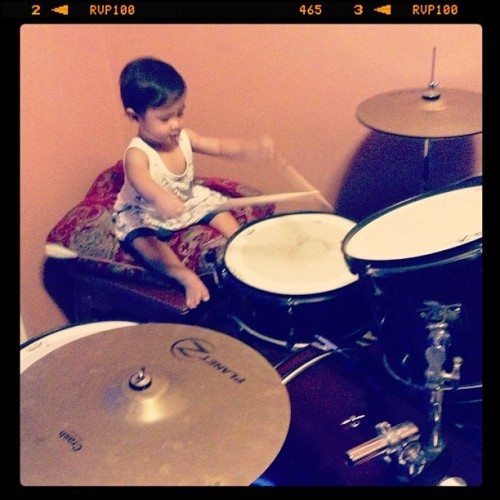 Our #littledrummerboy 😊
