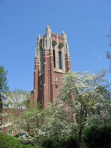 Per Request: University of Richmond's Boatwright Tower. Richmond, Virginia, United States.