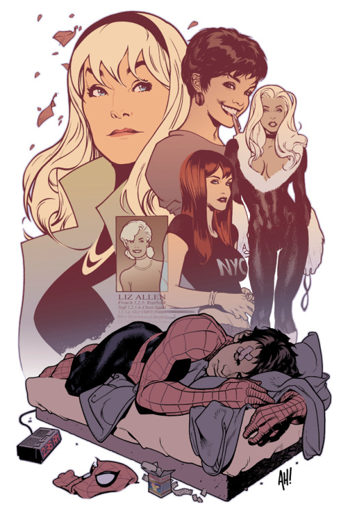 The Women in Peter Parker's Little Life by Adam Hughes.