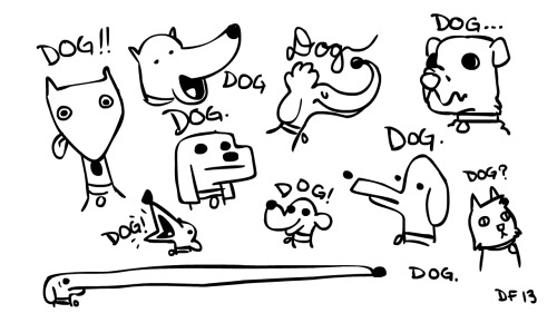 My terrible dog drawing warmups for the day.