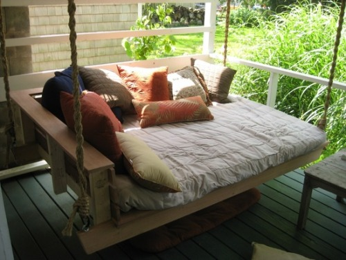 When: It finally stopped raining. Where: A new porch swing for sleepyheads. Why: You're a beta tester.