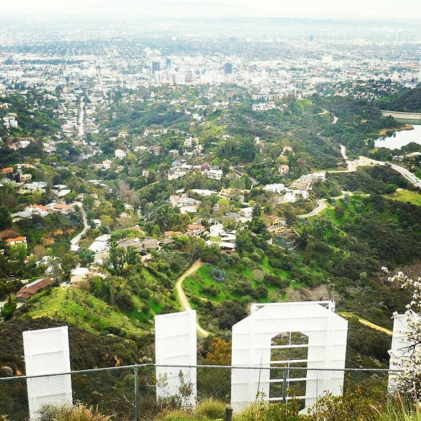 Hollywood sign up close. Worth the hike!  #hollywood #sign