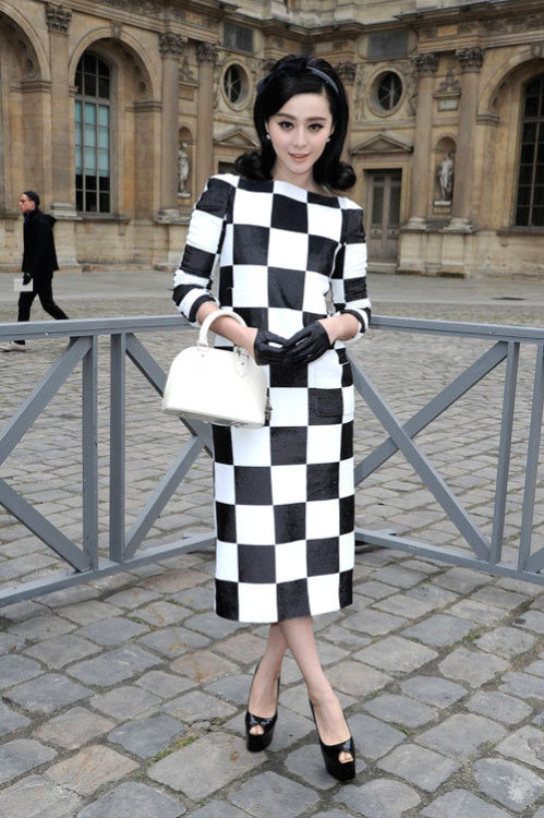 tight-roped:  Fan Bingbing in Louis Vuitton