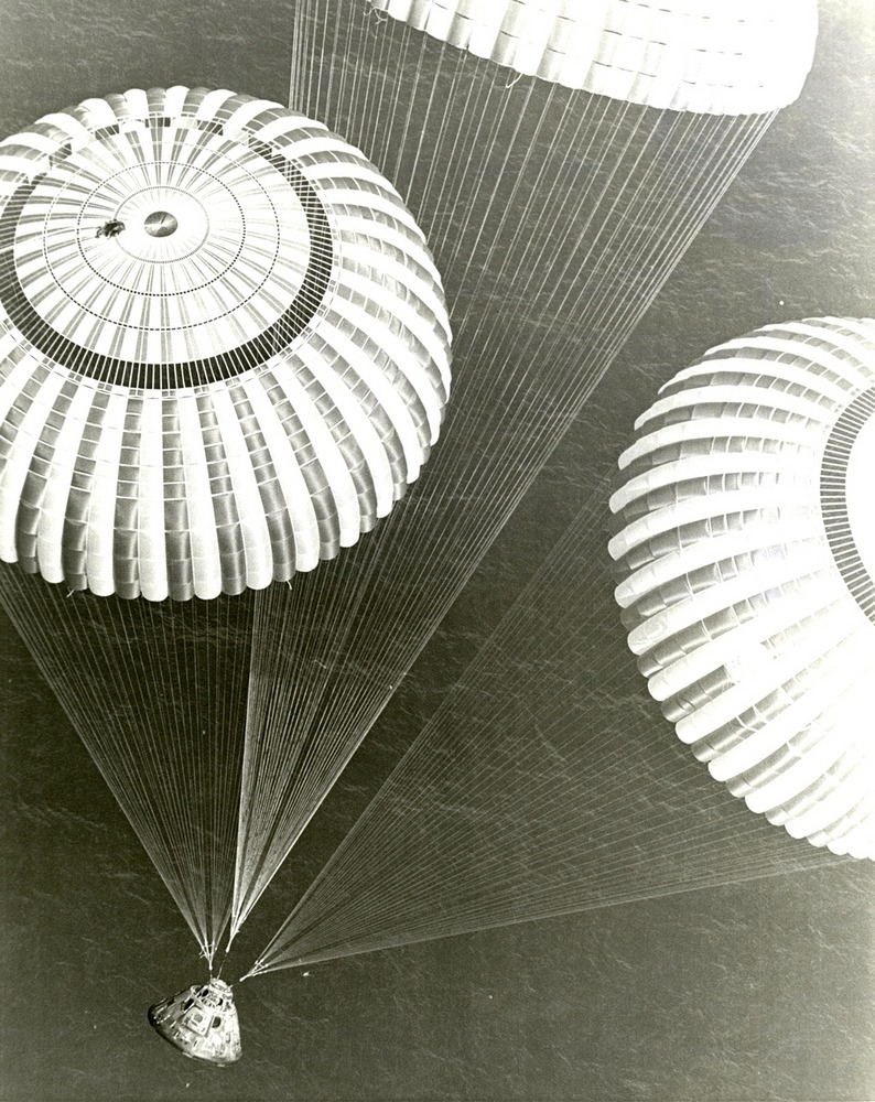 parlatorio:   Apollo 17 splashdown, USS Ticonderoga's recovery chopper, December 1972