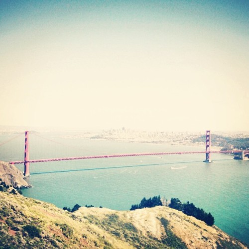 The beautiful Golden Gate Bridge in SF