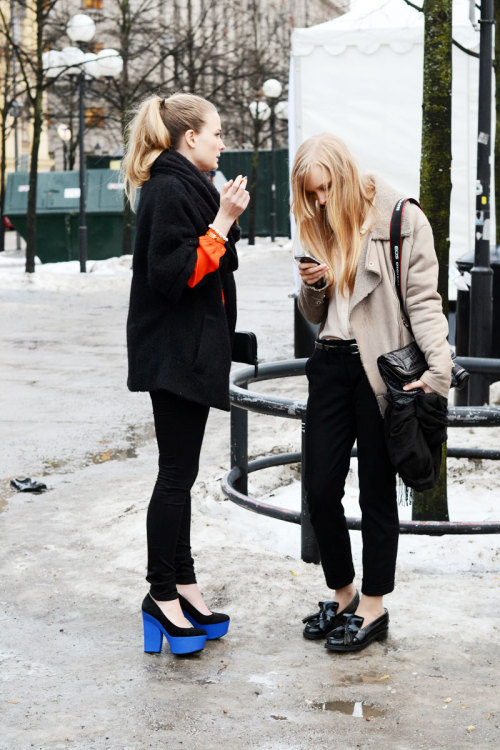the-streetstyle:  Stockholm Fashion Week Snaps #1via malmostreetstyle