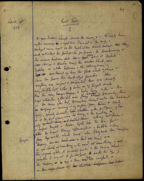 theparisreview:  Virginia Woolf's manuscript of To the Lighthouse (Via)