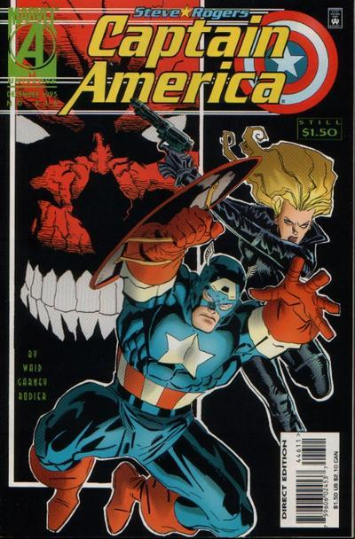 Captain America #446, December 1995, written by Mark Waid, penciled by Ron Garney