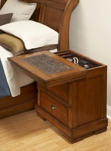 Secret compartment nightstand furniture