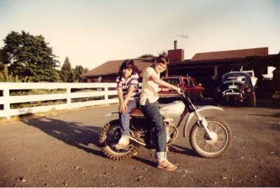 "Vancouver, Washington native Kim Spindler Gribner's ""back in the day"" photo.  Back in the day… notice the rolled up jeans, kangaroo shoes and polo shirt? Damn I miss the 80's!  She was definitely born to ride!"