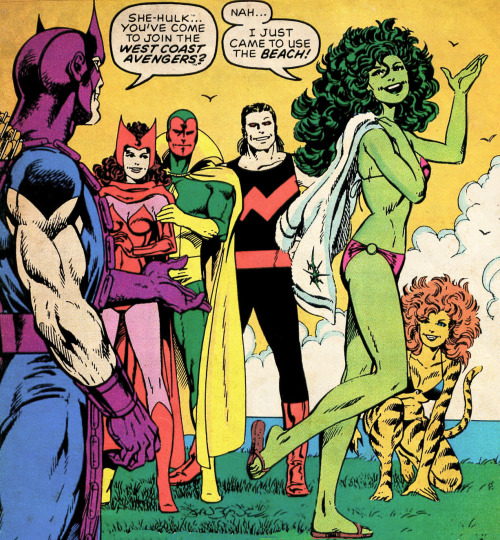 She-Hulk… You've come to join the West Coast Avengers?