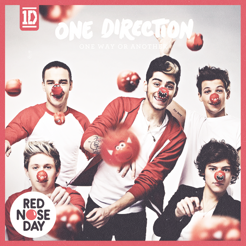 "djmalikgang:  One Direction ""One Way Or Another"" charity single for Red Nose Day cover"