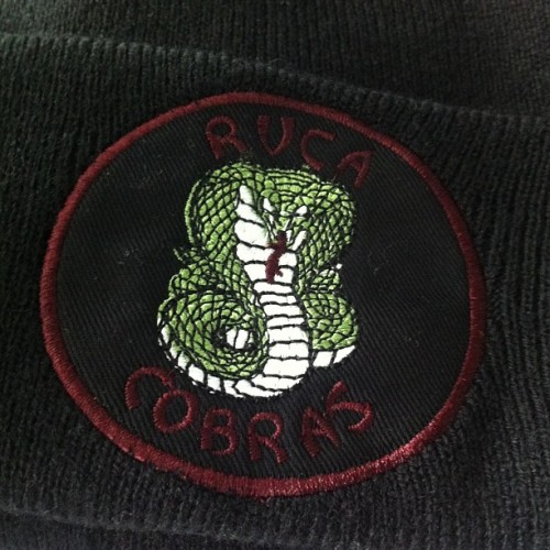 RVCA Cobras design I did on a beanie!! Also available as a knitted sweater! #rvca