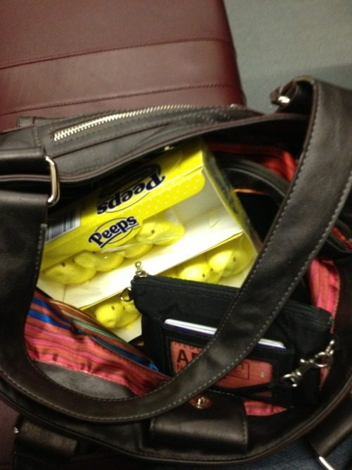 I love looking into my purse and seeing a box of peeps!  It's going to be a good day!