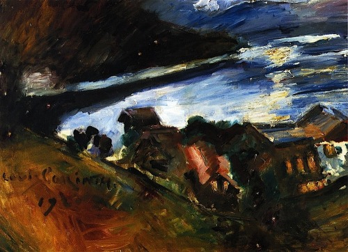 bofransson:  The Walchensee in the Moonlight Lovis Corinth - 1920