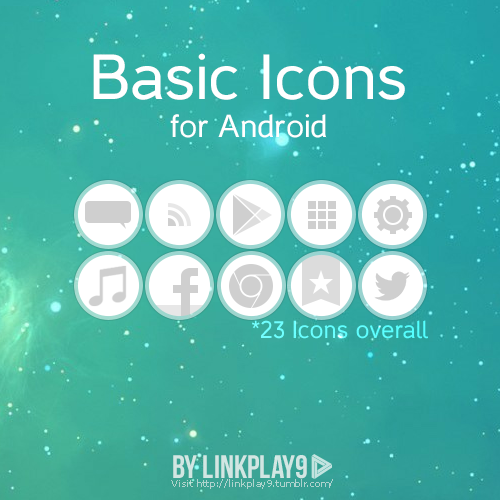 Basic Icons for Android are now available.