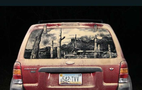 (via 20 Dirty Car Artworks by Scott Wade | inspirationfeed.com)