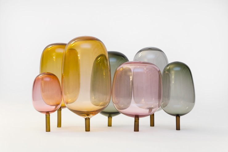 The Woods by Andreas Engeskiv and StokkeAustad Check out these blown glass trees. I wish real trees looked like this. But then everyone would probably lick them, thinking they were made of candy. They definitely remind of something Dr. Seuss would draw. Source: NOTCOT.org