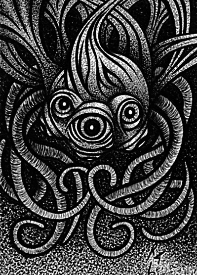 Finished inks of Tentacles & Eyeballs Sketch Card #9. on Flickr.Finished inks of Tentacles & Eyeballs Sketch Card #9.