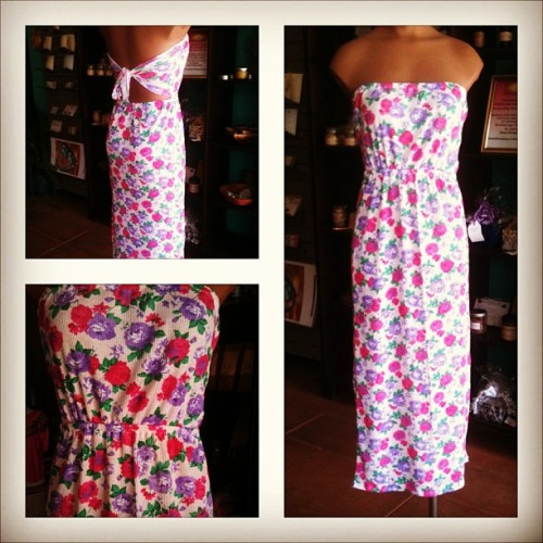 Another style from the vintage fabric floral print. Native Sol Cut and Sew. #nativesol #handmade #dress #floral #flowers #vintage #vintagefabric #shopeastvillagelb #eastvillagelb #longbeach #fashion #design #style
