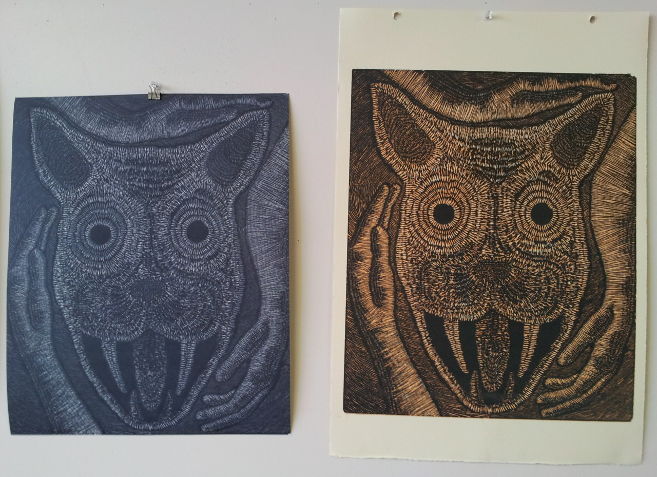 In what sick world is black less opaque than dark grey? These are two prints at the same stage, the last layer printed in black. Anyone know why Akua black can't print over Akua grey?