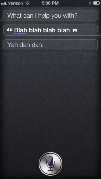 I can't tell if Siri is mocking me or trying to sing along.