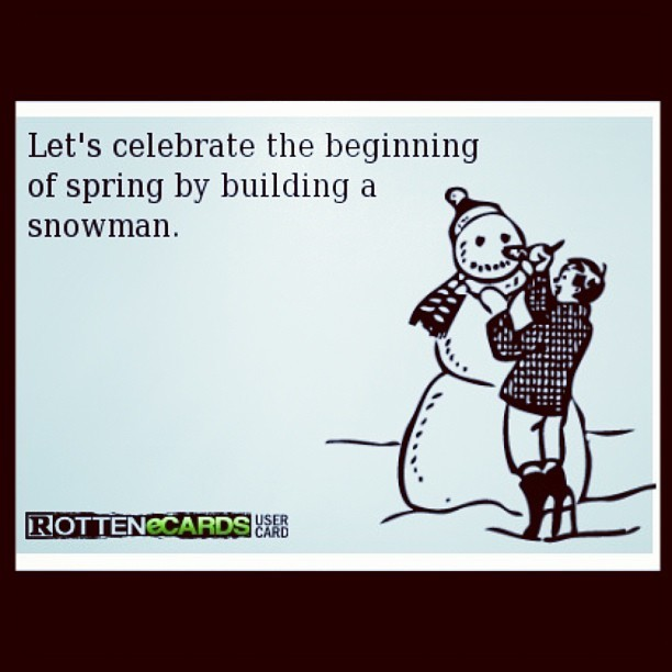 😧 #weird #ughh #hatethis #snow #spring #snowman #someecards #lol