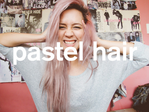 camiejuan:  Pastel hair, dont care. My hair is somewhat the cross of pastel plum and pastel pink. I don't even know. I mixed my old red dye and remaining blue dye, and I guess I put in more of the red shade so it turned this color. At first I wasn't quite the fan but I actually really LOVE this shade on me! It depends on the lighting around me what color my hair turns out to be, sometimes it comes out pastel lilac, sometimes pastel pink. Gab's brother actually called me Ramona Flowers.  Purrttiee!