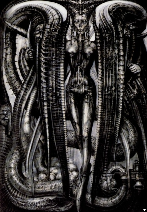 indoctrinatedart:  Getting this H R Giger piece tattooed on my forearm on the 30th as part of a sleeve.