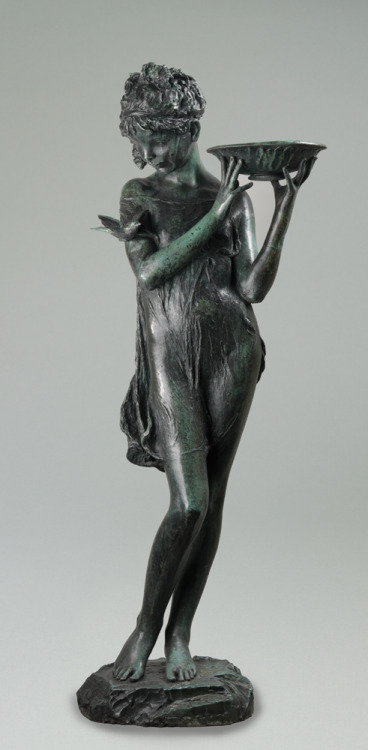 Bessie Potter Vonnoh Garden fountain figure, ca 1931. VIA