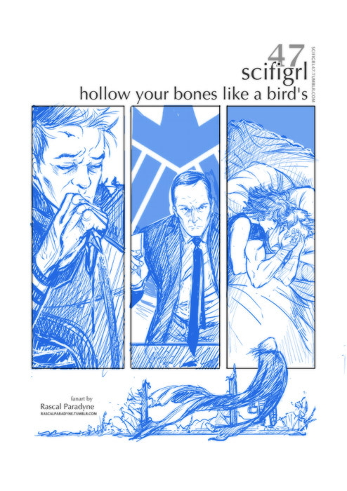 WIP fanart: pencils for Scifigrl47's Hollow Your Bones Like A Bird's, a story I've been sketching versions of since *checks notebook* November. This may actually be the one that makes it to the ink and paint stage, I dunno, i have a lot of feels for this piece. The story is work in progress, it's very good, you can find it here.