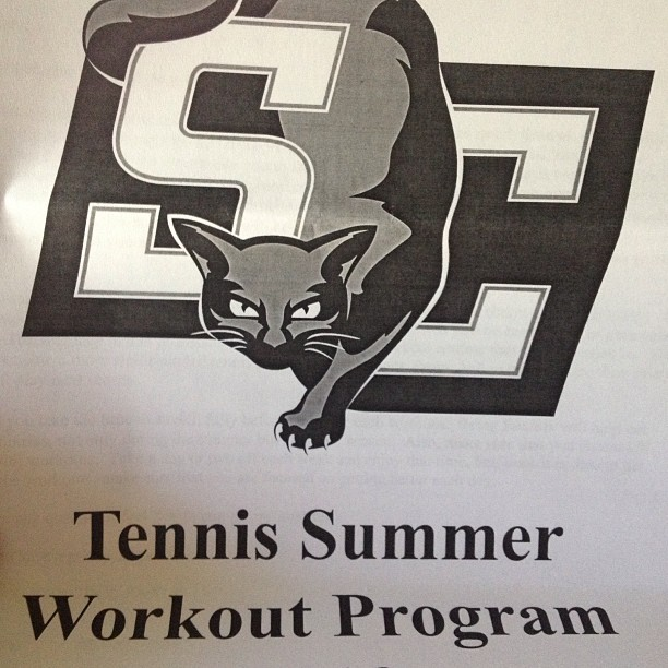 I'm excited guys! #workout #southwestern #tennis